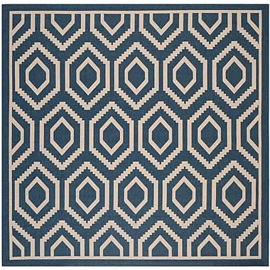 George Oliver Catharine Navy/Beige Outdoor Rug; Square 7'10''