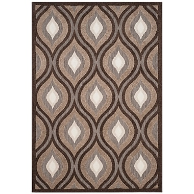 George Oliver Candor Light Brown/Dark Brown Area Rug; 3'3'' x 5'3''
