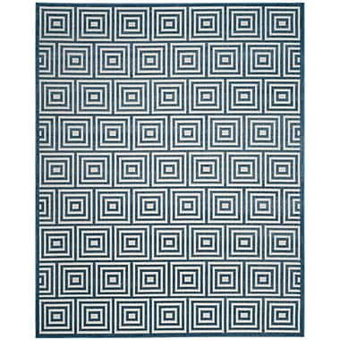 George Oliver Candor Contemporary Blue Outdoor Area Rug; Runner 2'3'' x 8'