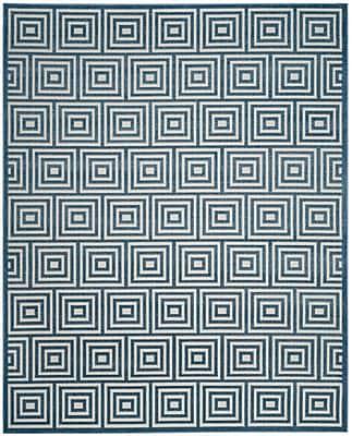 George Oliver Candor Contemporary Blue Outdoor Area Rug; 8' x 11'2''