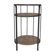 Cheungs 2 Tier Wood Top Storage Shelving Unit
