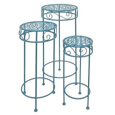 One Allium Way Brandeis 3 Piece Metal Nesting Plant Stand Set