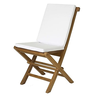 Longshore Tides Humphrey Outdoor Side Chair Cushion (Set of 2); White