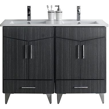 Orren Ellis Emerson 48'' Double Bathroom Vanity Set; Single