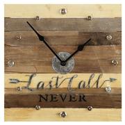 Loon Peak Timber Last Call Never Wall Clock