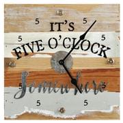 Loon Peak Bencomo Five O'Clock Somewhere Wall Clock