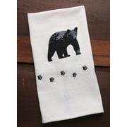 Loon Peak Bear Patterned Kitchen Towel (Set of 4)