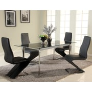 Orren Ellis Chellsey Extendable Glass Dining Table