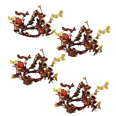 Loon Peak 8'' Festive Pumpkin and Sunflower Wreath (Set of 4) WYF078281947263