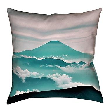 Latitude Run Katherine Fuji Linen Lumbar Pillow; Green