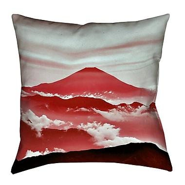 Latitude Run Katherine Fuji Lumbar Pillow; Red