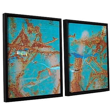 Latitude Run Rusty Turquoise 2 Piece Framed Photographic Print Set; 32'' H x 48'' W x 2'' D