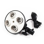 LusanaStudio 4 Socket Photo Bulb Adapter Light Fitter