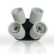 LusanaStudio Socket Adapter 4 in 1 Adapter Holder Light Fitter