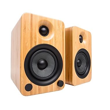 Kanto – Haut-parleurs Bluetooth YU4 amplifiés 200 W, bambou (YU4BAMBOO)
