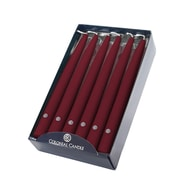 "Colonial Candle Ccnaa101620 10"" Handipt Traditional Cranberry Taper Candle, 12/Pack"