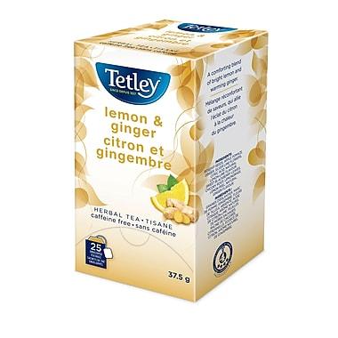 Tetley® Tea – Sachets de tisane citron et gingembre, bte/75