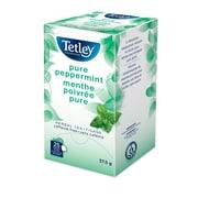 Tetley - Tisane à la menthe poivrée en sachets emballés, 25/paquet