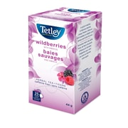 Tetley - Tisane aux baies sauvages en sachets emballés, 25/paquet
