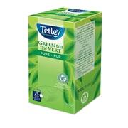 Tetley - Thé vert pur en sachets emballés, 25/paquet