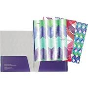 Five Star - Porte-document à pochettes et à attaches, motifs variés