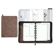 "Day-Timer® Distressed Look Starter Set Organizer, Undated, 7 Ring, Desk Size, 5 1/2"" x 8 1/2"", Brown (D43184)"