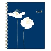 "2018 Snow & Graham for Blue Sky 8-1/2"" x 11"" Weekly/Monthly Frosted Planner, New Poppy (103540)"