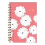"2018 Snow & Graham for Blue Sky 5"" x 8"" Weekly/Monthly Frosted Planner, Pom Poms (103539)"