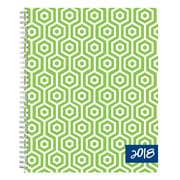 "2018 Dabney Lee for Blue Sky 8-1/2"" x 11"" Weekly/Monthly Frosted Planner, Hexagon (103348)"