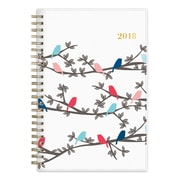 "2018 Snow & Graham for Blue Sky 5"" x 8"" Weekly/Monthly Frosted Planner, Birdies (103282)"
