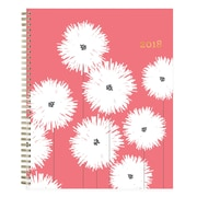 "2018 Snow & Graham for Blue Sky 8-1/2"" x 11"" Weekly/Monthly Frosted Planner, Pom Poms (103279)"