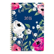 "2018 Blue Sky 5"" x 8"" Weekly/Monthly Hardcover Planner, Blossom (101918)"
