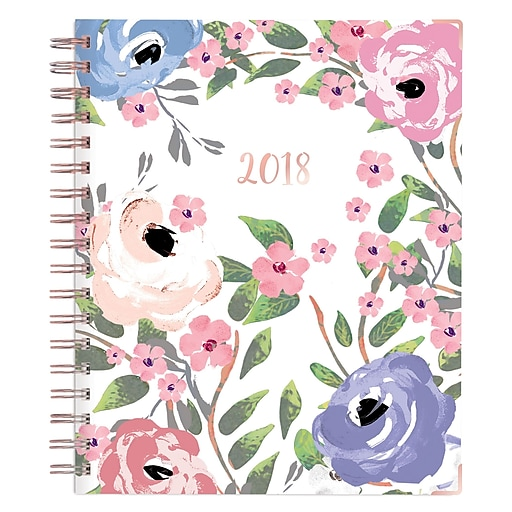 """2018 Blue Sky 7"""" x 9"""" Daily/Monthly Hardcover Planner, Alyssa (101909)"""