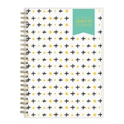 "2018 Day Designer for Blue Sky 5-7/8"" x 8-5/8"" Weekly/Monthly Frosted Planner Notes, Cross (103254)"