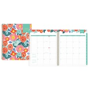 "2018 Day Designer for Blue Sky 8-1/2"" x 11"" Weekly/Monthly Frosted Planner, Floral Sketch New (103248)"