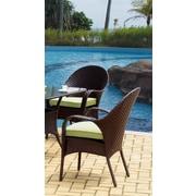 South Sea Rattan Bahia Wicker Bistro Table; Rustic White