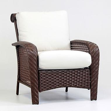 South Sea Rattan Martinique Deep Seating Chair w/ Cushion; Cayenne