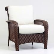 South Sea Rattan Martinique Deep Seating Chair w/ Cushion; Dove