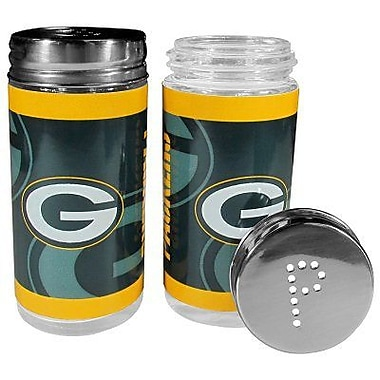 Siskiyou Products NFL 2 Piece Shakers Salt and Pepper Set; Green Bay Packers