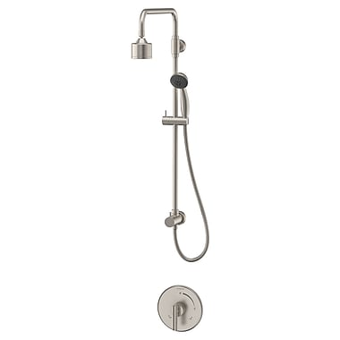 Symmons Dia 1-Spray Thermostatic Shower Faucet Lever Handles; Satin Nickel