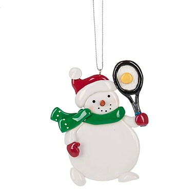 The Holiday Aisle Tennis Snowman Hanging Figurine