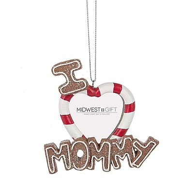 The Holiday Aisle I Love Mommy Photo Ornament