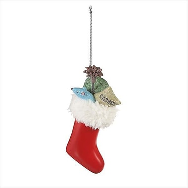 The Holiday Aisle Stocking w/ Cat Gifts Hanging Figurine
