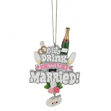 The Holiday Aisle Eat, Drink and Be Married Hanging Figurine