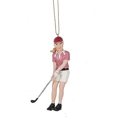 The Holiday Aisle Girl Golfer Hanging Figurine