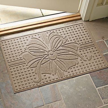 The Holiday Aisle Wrap It Up Outdoor Doormat; Camel