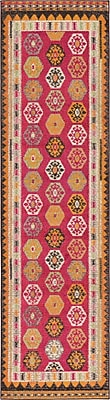 Bungalow Rose Phillips Red Area Rug; Runner 2'7'' x 10'