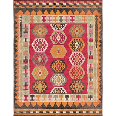 Bungalow Rose Phillips Red Area Rug; 9' x 12'