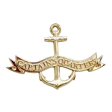 Breakwater Bay Coastal Captain Quarters Wall D cor; Brass
