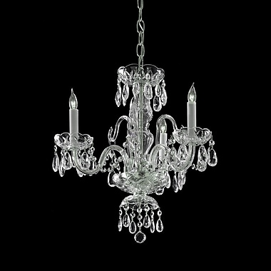 Willa Arlo Interiors Caledonian 3-Light Crystal Candle Chandelier; Majestic Wood Polished/Chrome